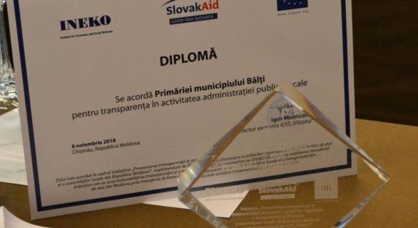 Pentru al doilea an consecutiv, Bălți rămâne a fi cea mai transparentă localitate din țară, cu 20% față de Cimișlia și Cahul