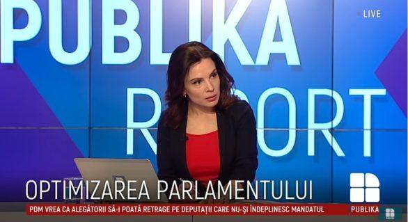 (VIDEO) Moderatoare Publika TV, despre inițiativa lui Plahotniuc: Are loc referendumul pentru ca în noul legislativ să avem 61 de deputați
