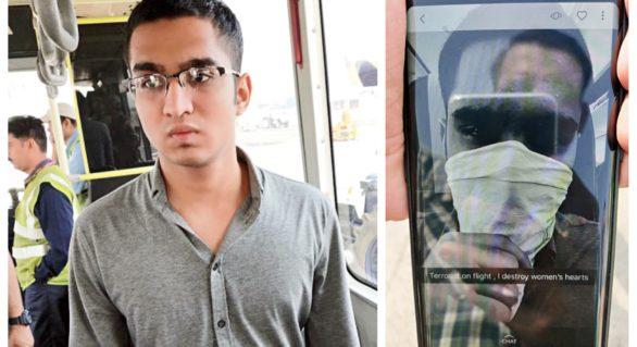 Pasager debarcat din avion și interogat timp de zece ore pentru un selfie postat pe o rețea de socializare
