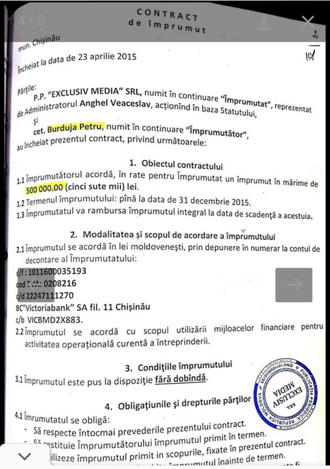 """Foto /DOC/ Probe noi în implicarea spălării de bani a patru deputați socialiști prin intermediul """"Exclusiv Media"""" SRL 4 16.06.2021"""